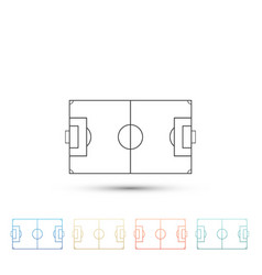 football field or soccer field icon isolated vector image