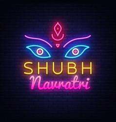 Garba festival neonnavratri celebration neon vector