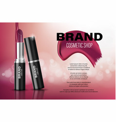 Glamour lipstick ads poster design with liquid vector