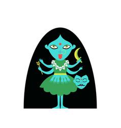 Goddess hinduism potassium cult vector