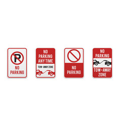 graphic no parking signs vector image