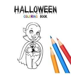 Halloween Coloring Book Cute Baby Cartoon vector image vector image