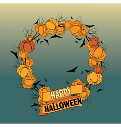 Halloween wreath 5 vector image