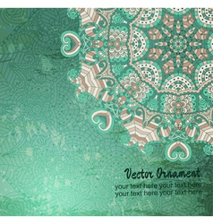 hand drawn vintage card vector image