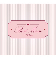 Happy Motherss Day vector image
