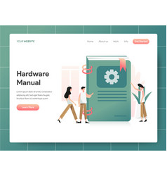 Hardware manual book concept modern design vector