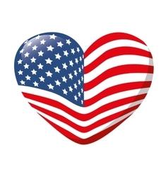 heart love america usa vector image