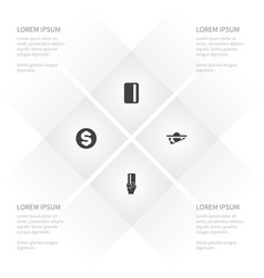 icon money set of financial payment dollar and vector image vector image
