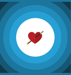 Isolated arrow flat icon heart element can vector