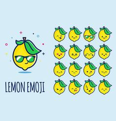 Lemon emoji vector