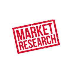 market research rubber stamp vector image