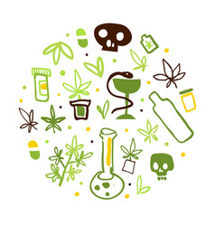 medical cannabis banner with hemp products vector image