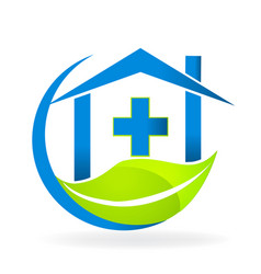Medical clinic symbol nature business logo vector