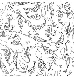 mermaids sketch seamless pattern for your design vector image