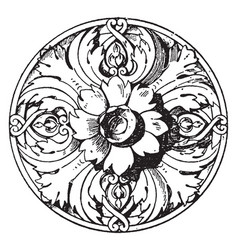 Modern french rosette is a ceiling flower made of vector