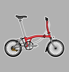 modern tri fold city folding bike in flat style vector image