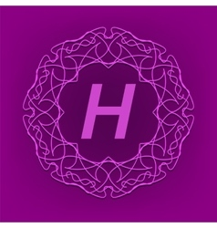 Monogram H Design vector