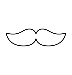 Mustache silhouette isolated icon vector