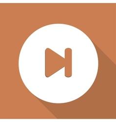 Next track web icon vector