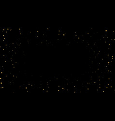Night sky with gold stars on black background vector