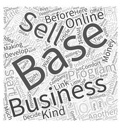 Online Home Based Business Opportunities Making vector