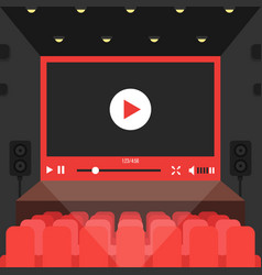 online video in cinema theater vector image