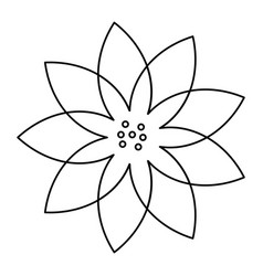 Outline flower natural decoration delicate vector