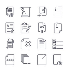 paper icons document icons eps10 icon vector image