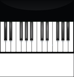 piano key keyboard instrument musical flat vector image