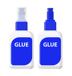 plastic glue with open lid and closed vector image