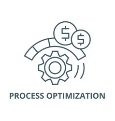 Process optimization line icon linear vector