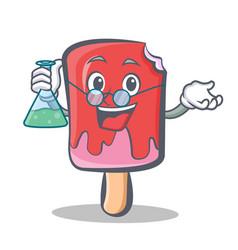 Professor ice cream character cartoon vector