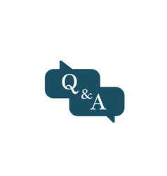 questions and answers chat balloons faq chat vector image