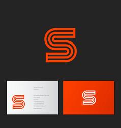 S letter monogram linear gold identity vector