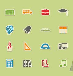 School simply icons vector