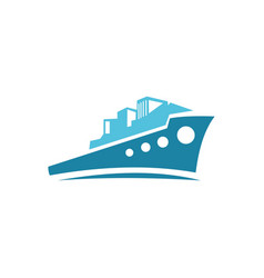 sea ship logo vector image