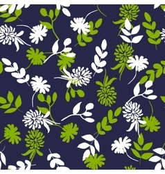 Seamless background with hand drawn flowers vector image