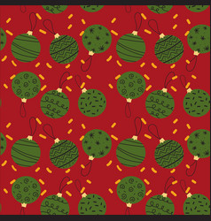 seamless pattern of creative christmas balls vector image