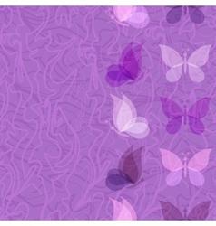 Seamless pattern transparent butterflies vector image