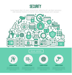 security and protection in half circle concept vector image