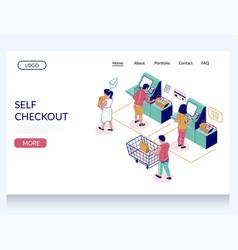 self checkout website landing page design vector image