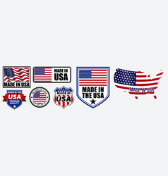 set made in usa label for retail product vector image