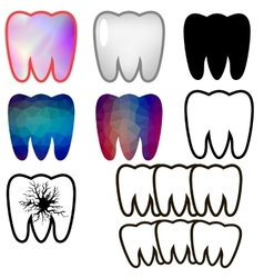 Set of Rotten Teeth and Healthy vector image