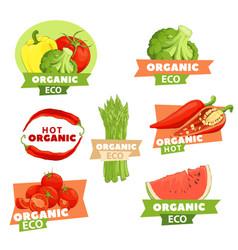 Set of tasty logos vector
