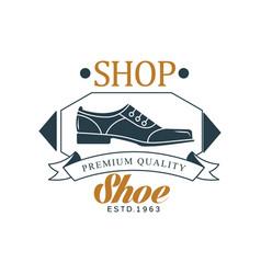 Shoe shop premium quality estd 1963 vintage vector