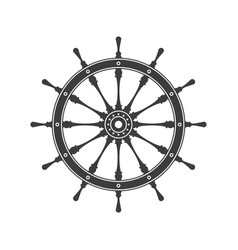 simple ship steering wheel vector image