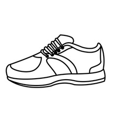 Sneaker with shoelance icon cartoon black and vector