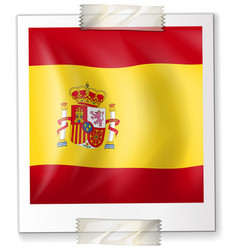 spain flag on square paper vector image