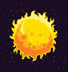 The sun in cartoon style flat design detailed vector