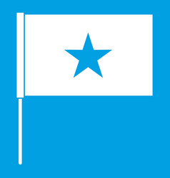 vietnam flag icon white vector image
